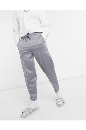 ASOS Tapered joggers in poly-tricot-Grey
