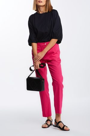 GANT Ženy Strečové - Kalhoty D2. Stretch Linen Tapered Pants