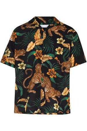 Desmond & Dempsey Jungle print pajama shirt