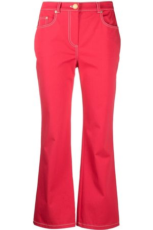 Boutique Moschino High-rise flared cotton jeans