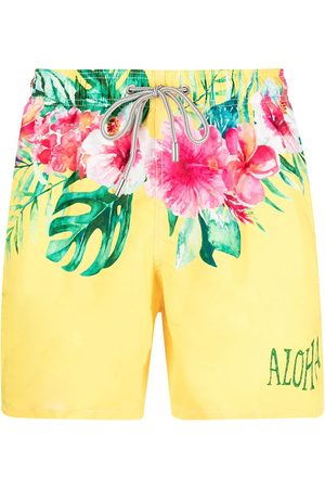 Mc2 Saint Barth Hibiscus-print swim shorts