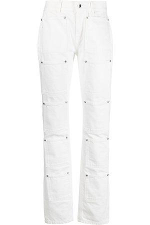 Lourdes High-rise multi-pocket flared jeans