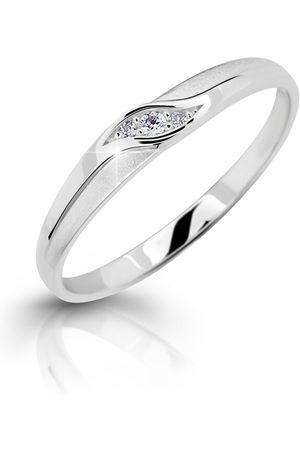 Cutie Jewellery Něžný zásnubní prsten z bílého zlata Z6815–2844-10-X-2 50 mm