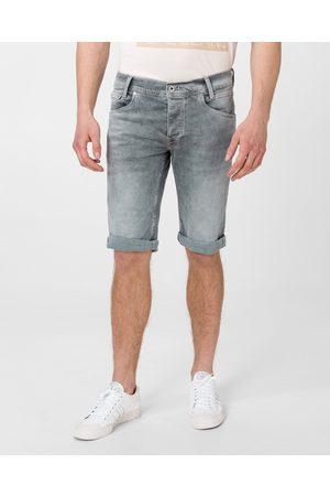 Pepe Jeans Muži Šortky - Pánské šedé šortky Spike