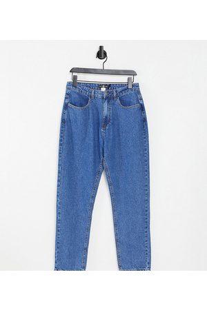 Daisy Street Mom jeans in bleach denim-Blue