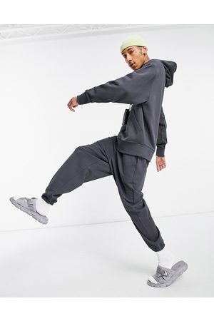ASOS Co-ord heavyweight oversized joggers in washed black