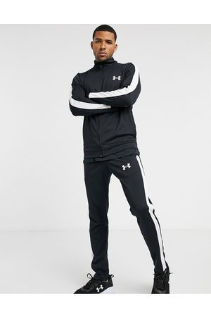 Under Armour Sportstyle knit tracksuit in black