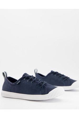 Palladium Easy lace-up plimsolls in navy