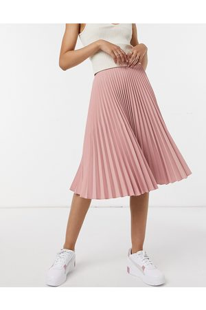 adidas Pleated midi skirt in blush pink