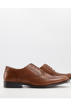 adidas Oxford brogue shoes in tan leather