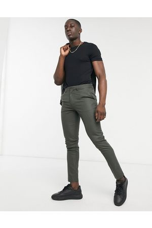 adidas Skinny suit trousers in forest green