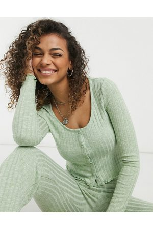 adidas Titti knitted jersey cardigan in green 3 piece co-ord