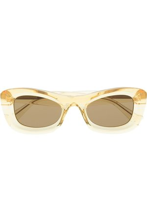 Bottega Veneta Transparent rectangle-frame sunglasses
