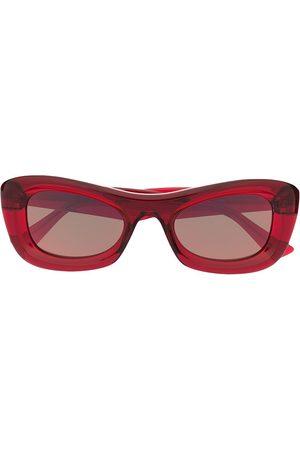 adidas Transparent rectangle-frame sunglasses