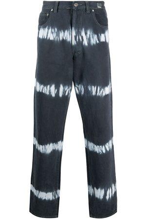 VERSACE 2000s tie-dye straight-leg jeans