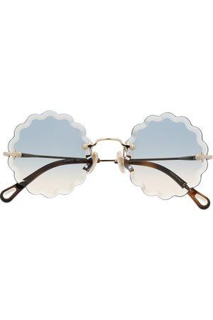 adidas Rosie round frame metal sunglasses