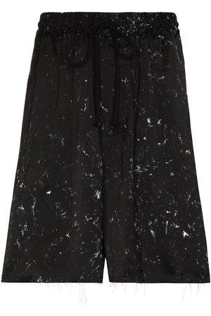 adidas Paint-splatter track shorts