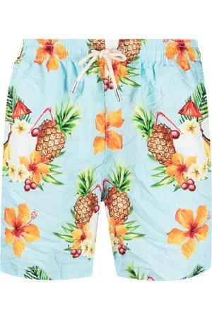 adidas Graphic-print swim shorts