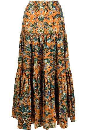 adidas Floral print maxi skirt