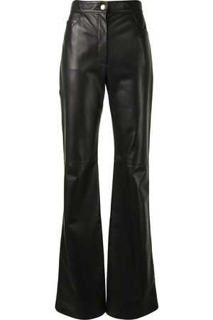 adidas High-waisted leather trousers