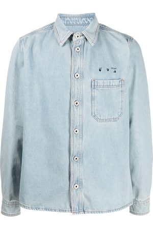 adidas Arrows motif denim shirt