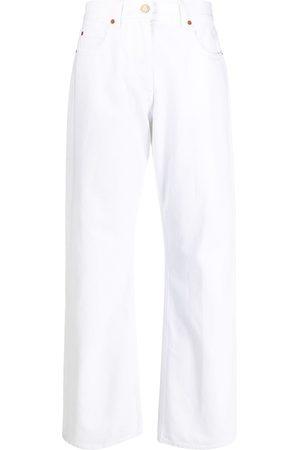 adidas Mid-rise straight-leg jeans