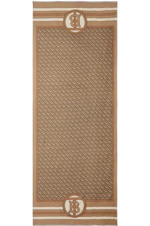 adidas Reversible Monogram print silk scarf
