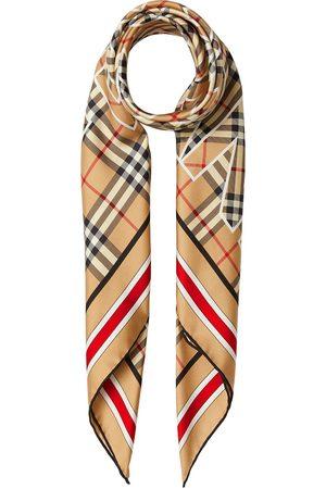 adidas Vintage Check logo-print square scarf