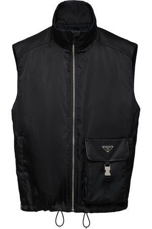 Prada Triangle-logo high-neck vest