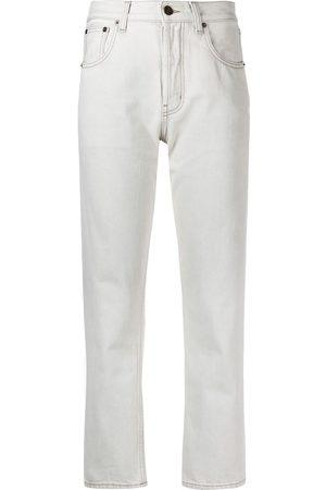 adidas High-waist slim-leg jeans