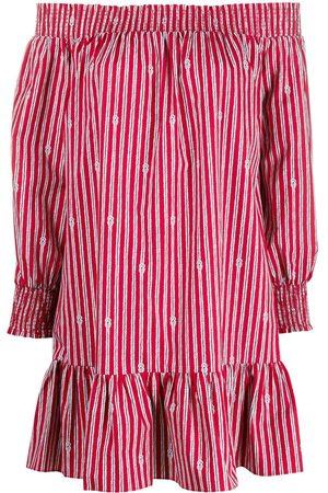 adidas Off-shoulder stripe dress