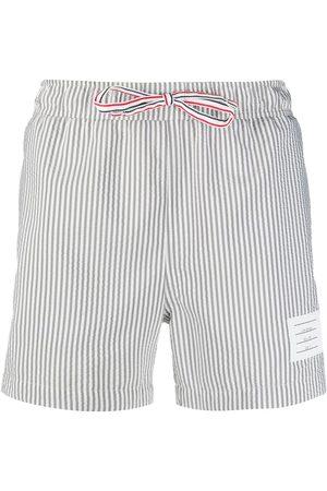 adidas Seersucker-print swim shorts