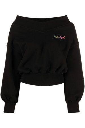 adidas Logo-print off-shoulder sweatshirt