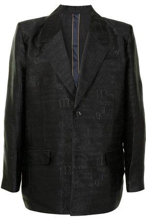 adidas Jacquard-patterned single-breasted blazer