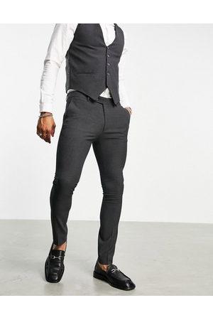 Bolongaro Muži Společenské - Plain skinny suit trousers in grey