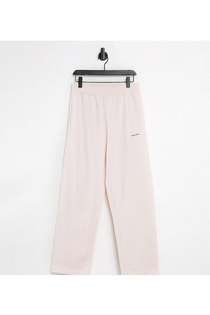 COLLUSION Unisex relaxed high waisted joggers in pink co-ord