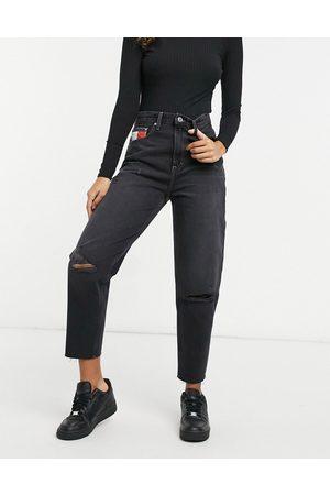 Tommy Hilfiger Ženy Mom džíny - Mom jean in black