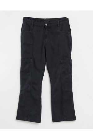 ASOS Low rise utility flare in black