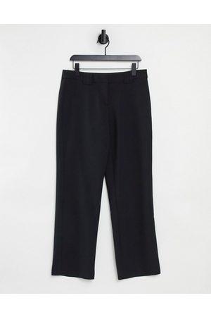 Y.A.S Ženy Společenské - Wide leg tailored trouser in black
