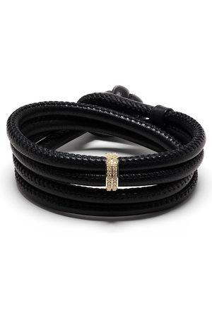 Mizuki 14kt yellow gold diamond wrap bracelet