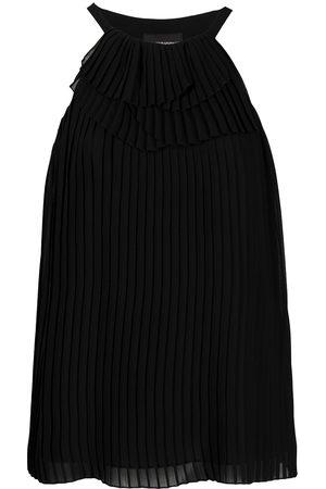 Emporio Armani Halterneck pleated blouse