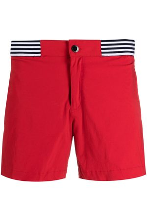 RON DORFF Stripe-detail swim shorts