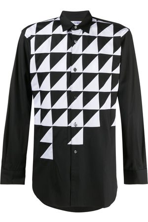 Comme des Garçons Abstract-print long-sleeve shirt