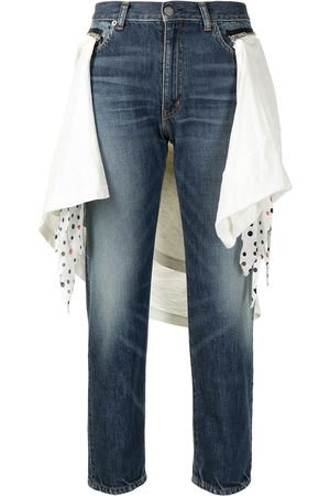 UNDERCOVER Side scarf detail straight jeans