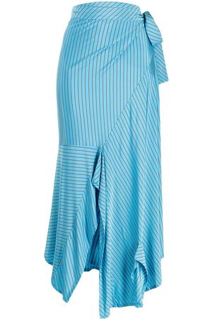 MM6 MAISON MARGIELA Striped mid-length skirt