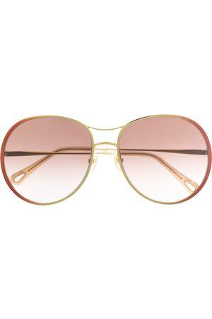 Chloé Round frame metal sunglasses