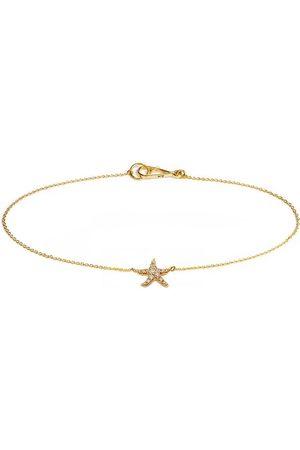 ANNOUSHKA 18kt yellow gold diamond Starfish bracelet