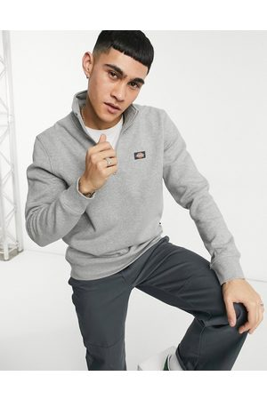 Dickies Muži Fleecové - Oakport 1/4 zip fleece in grey