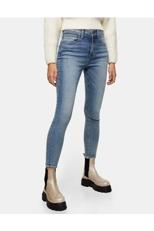 Topshop Ženy Skinny - Skinny stretch jeans in mid denim-Blue