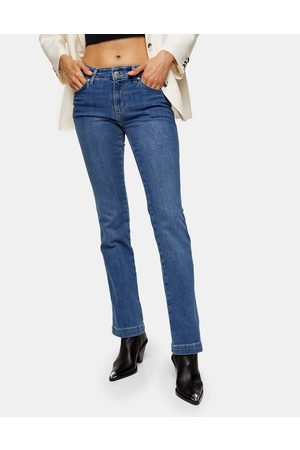 Topshop Bootcut jeans in mid denim-Blue